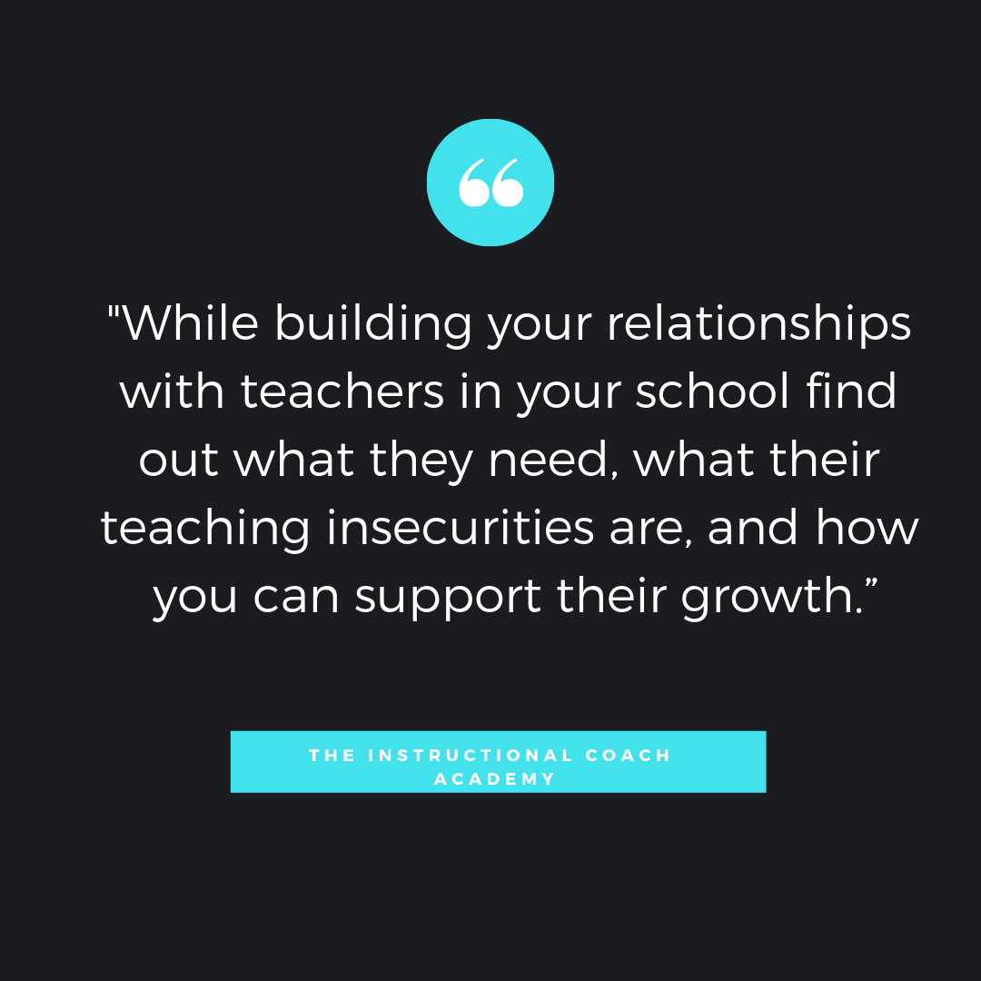 Creating Partnerships in Uncomfortable Situations as an Instructional Coach